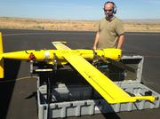 Guy McAllister,  an unmanned aerial system drone operator at Aerovel Corp in Bingen, Washington, says jumping from Boeing-owned Insitu to Aerovel has given him the chance to do some exciting development work on the Flexrotor (pictured here). The two companies have been a boon for young engineers in the region, he says.