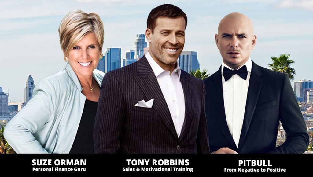 Suze Orman, Tony Robbins, Pitbull LIVE Los Angeles