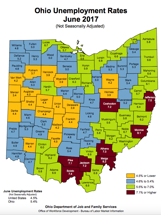 Central Ohio Unemployment Rate Ticked Up In June Columbus Business