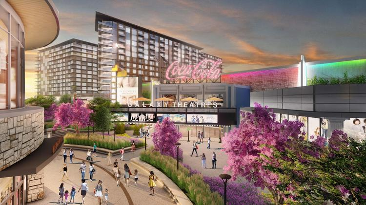 The 100-acre centerpiece of Grandscape is expected to total 3.9 million-square-foot of retail, office, residential and entertainment space.