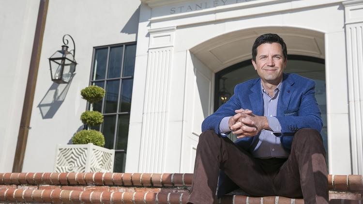 Glenn Prillaman Ceo Of Stanley Furniture Sits On The Front Steps Company S