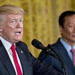 Trump says Foxconn project, jobs will help heal racial divisions