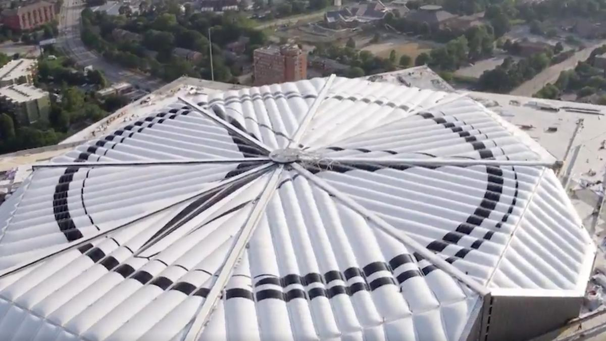 Mercedes Benz Stadium Releases Time Lapse Of Roof Closing