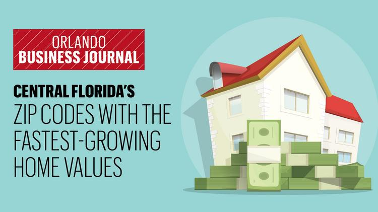 Central Florida ZIP codes with fastest growing home values