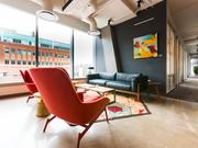 The iconic red chair sits in Serendipity Lab concepts throughout its network.