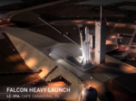 SpaceX readies Falcon Heavy, secret payload for launch