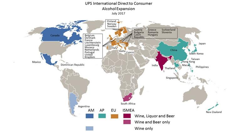 Ups expanding its shipment of wine and booze in european asian ups is now shipping to 39 wine importing countries 9 spirit importing countries gumiabroncs Image collections