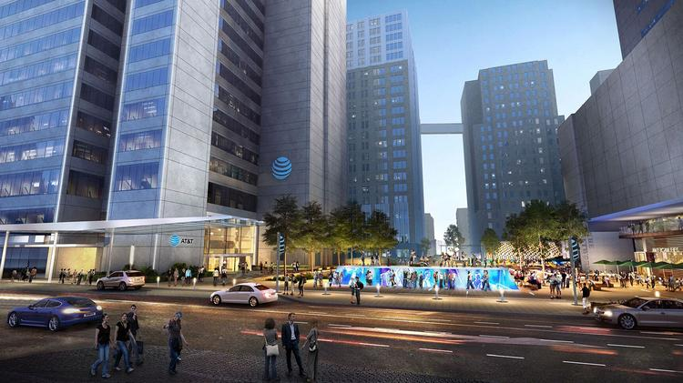 The plaza in AT&T's Discovery District in downtown Dallas will give off a renewed energy.