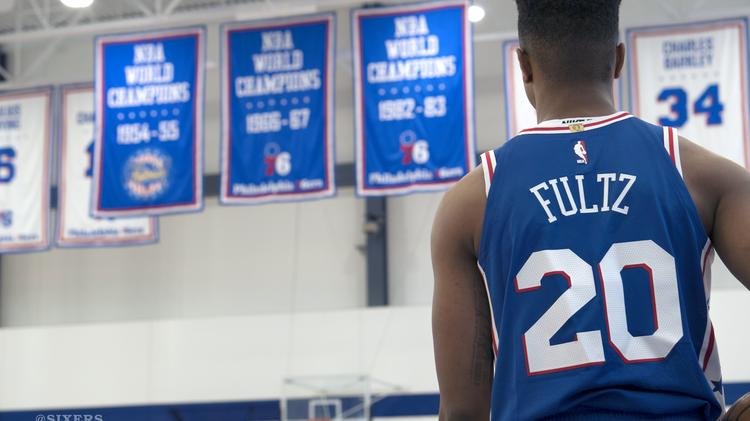 Look  Sixers  Markelle Fultz debuts team s new Nike jerseys ... 2bcc91ca6