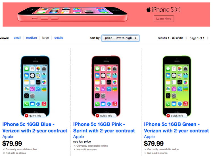 iPhone 5 C Sold for Retail Price Now