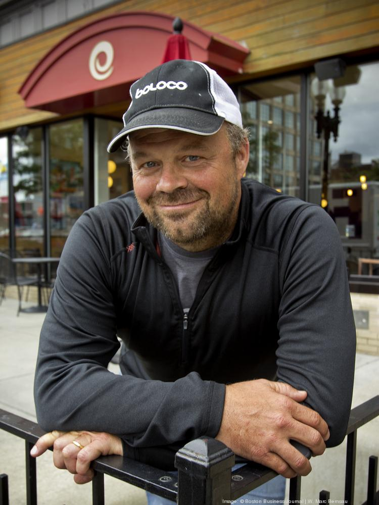 John Pepper, CEO of Boloco chain of restaurants at the 1080 Boylston Street, Boston, location.