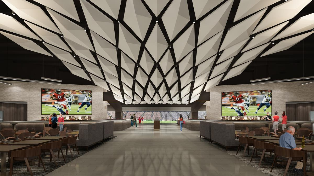 Swanky events to be big biz for falcons stadium atlanta for Hotel near mercedes benz stadium atlanta