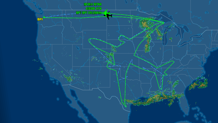 Test pilots draw a Boeing 787 with their flight path that ... on world airline route map, ups flight route map, united boeing 744 seat map, air berlin route map, united 787-9, alaska airlines route map, dreamliner seat map, united international route map, boeing 757-200 seat map, united seating chart, jetblue route map, norwegian flights route map, 747-400 seat map, 787 seat map, path route map, lufthansa route map, lan route map, united 737-800 seat map, qatar air route map, delta route map,