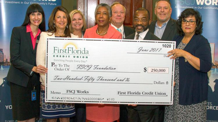 First Florida Credit Union gave $250,000 to FSCJ.