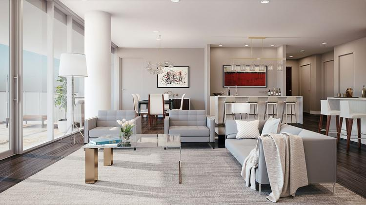 The living spaces within the condos will have floor-to-ceiling windows with an open floorplan.