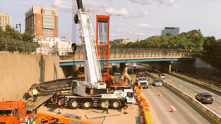 Mass Pike back to normal as Comm  Ave  construction work