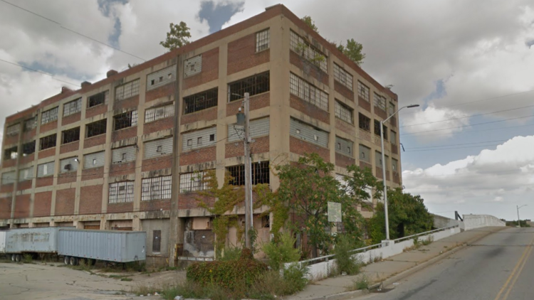 Site of former Acme supermarkets warehouse in West Baltimore