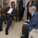 Bud Selig hosts baseball legend Hank Aaron at his home for fundraiser: Slideshow