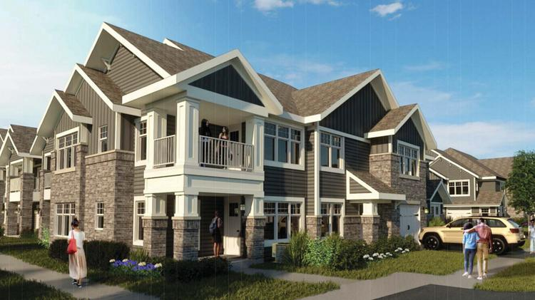 Suburban style apartments filling up in oak creek for Apartments with attached garages