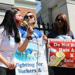 Baker's immigrant detainer bill draws strong protests
