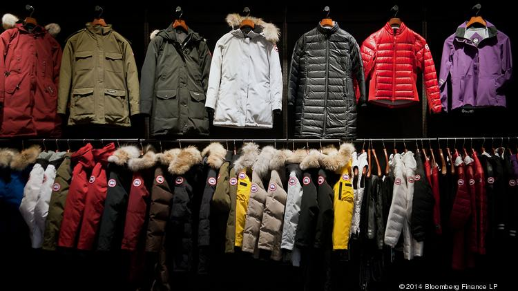 The showroom at the Canada Goose Clothing Production Facility mimics what a retail store would look