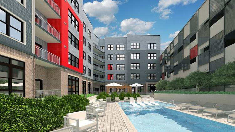 A Rendering Of The Porter Street Apartments At Mchenry Row
