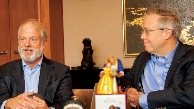 Once known as Hall Brothers, Hallmark Cards Inc. is led today by brothers Dave (left) and Don Hall Jr. As president and CEO, respectively, they symbolize a company that is working to keep its products relevant to the times while staying true to its focus on helping customers stay connected.