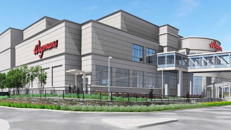 An artist's rendering of the new Wegmans in Natick.