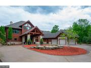 This 6,060-square-foot log home in Spooner, Wis. is listed for $1.49 million.