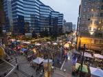 Scenes from Newaukee's Night Market in downtown Milwaukee