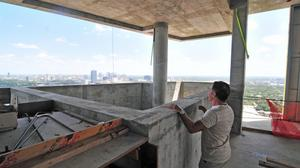 Sneak peek: Private terrace-top pools under construction in luxe Houston condo tower