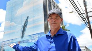 Wyland reaches agreement with Hawaiian Airlines, will start restoring whale mural this weekend