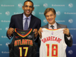 Atlanta digital health company Sharecare scores logo on Hawks uniforms