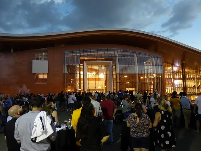 The Nashville Predators hosted an eclipse party on Aug. 21