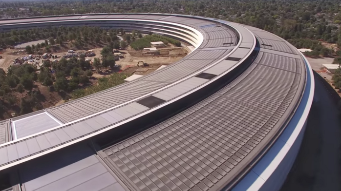 Latest Apple Park drone video shows Steve Jobs' tree-filled vision spring to life