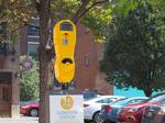 The newest way to donate? By bright yellow parking meter