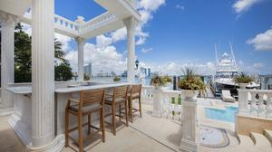 The deck at 921 N. Venetian Drive in Miami Beach.