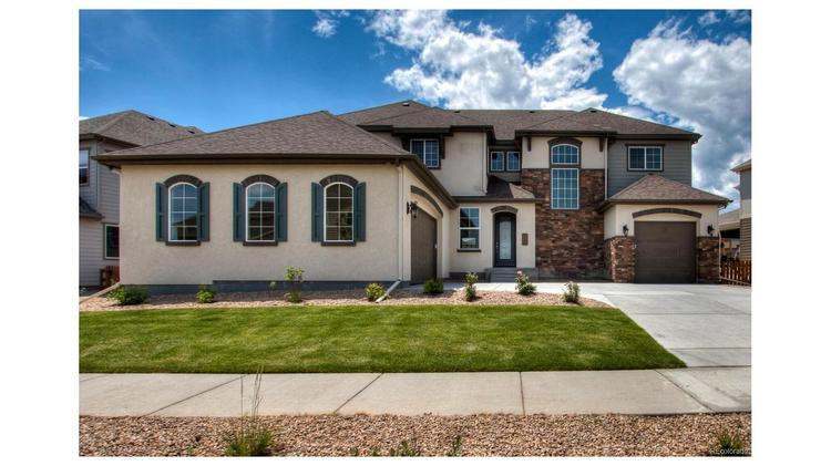 Arvada. (Exterior) List price: $765,495. Neighborhood: Candelas. Finished square feet: 3,889. Beds: 4. Baths: 5. Garage: 3-car. Year built: 2017. Amenities: Brand new home, upgraded appliance package, HOA with clubhouse, community pool and fitness facility.