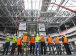Milwaukee Bucks 'top off' new arena: Slideshow