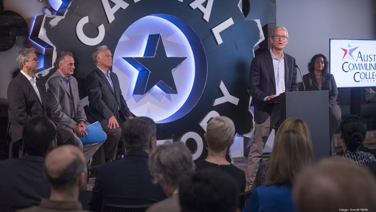 apple ceo tim cook austin is a model other tech focused cities should emulate austin business journal