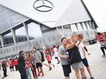 Check out this timelapse video of Mercedes-Benz Stadium's construction