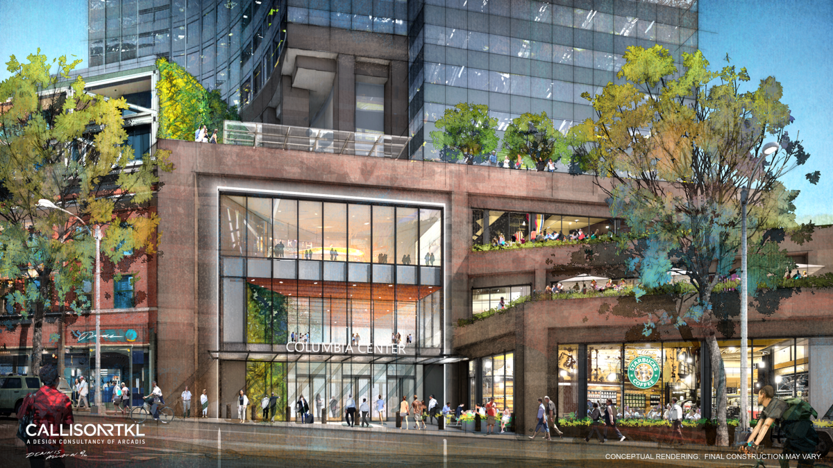 Details Of Columbia Center S Latest Big Makeover Revealed