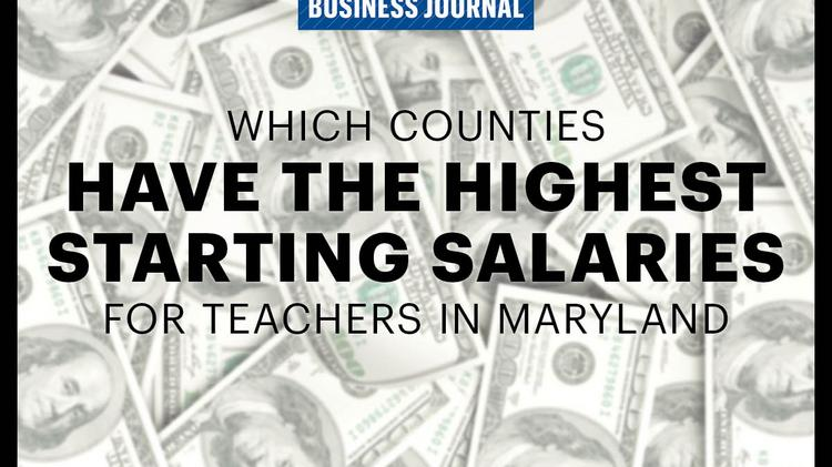 Md Counties Where Teachers Have The Highest Starting