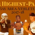The Bay Area's 25 highest-paid athletes in 2018 include Steph Curry, Kevin Durant and Buster Posey