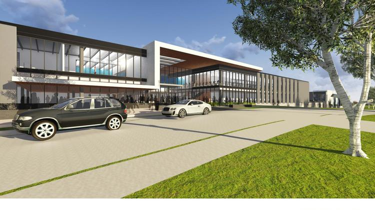 Exterior rendering of The St. James, a 450,000-square-foot sports complex coming to Springfield.