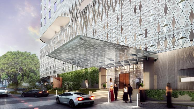 The new Virgin Hotel Dallas will have an embellished skin meant to be translucent and move in the light.