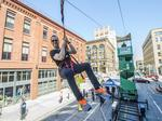 See Digital Measures' employees zip line to new 3rd Ward office: Slideshow