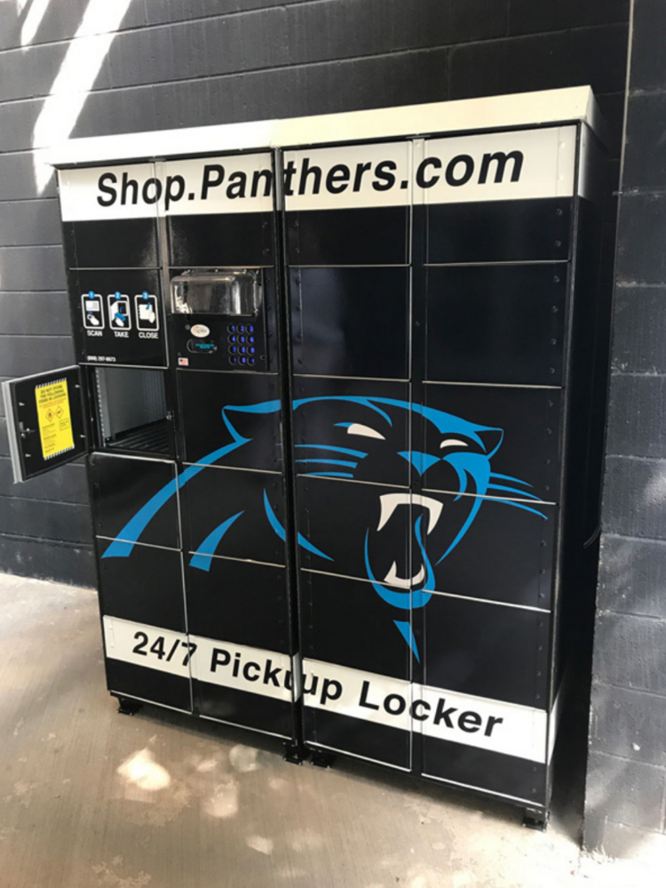 Carolina Panthers first NFL team to install lockers for merchandise ... 2c36000ae