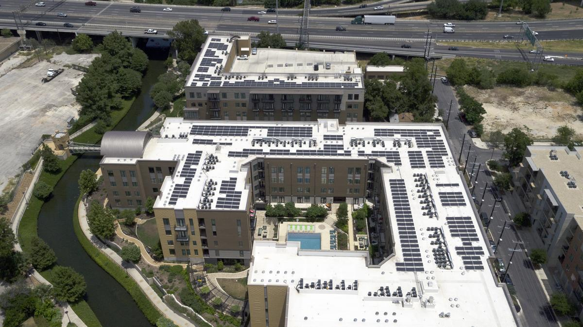 River House debuts largest solar power system for a multifamily property in San  Antonio - San Antonio Business Journal