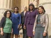 JIM COURTNEYFrom left: Nadine Marrero, director of planning; Christie Nelson, director of real estate; Rebecca Gandour, director of development for the Office of Strategic Planning; Nona Watson, executive director of the Buffalo Urban Renewal Agency; and Brandy Merriweather, vice president, Buffalo Urban Development Corp.